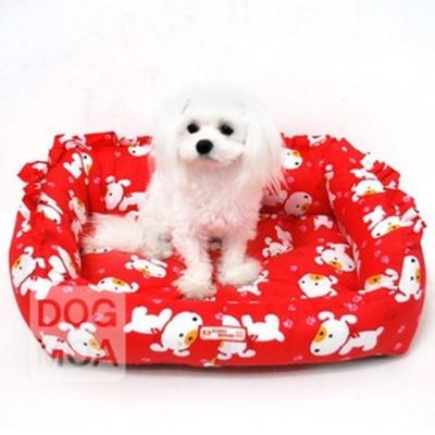 퍼피하우스 강아지 방석 침대 쿠션 매트 하우스 레드