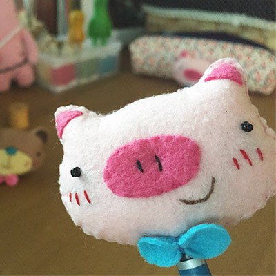 [diy] cute pencil topper-pig