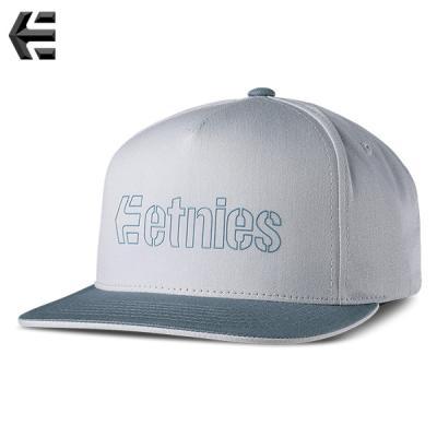 [ETNIES] CORPORATE 5 SNAPBACK HAT (LT GREY/DK GREY)