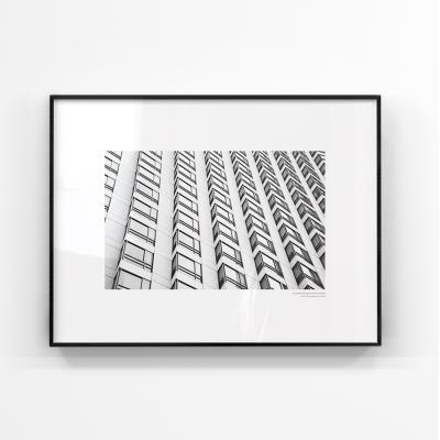 미니멀리즘 블랙앤화이트 고층빌딩 대형액자 MBW106-60x80