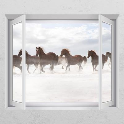 cd933-풍수에좋은역동적인말01_창문그림액자