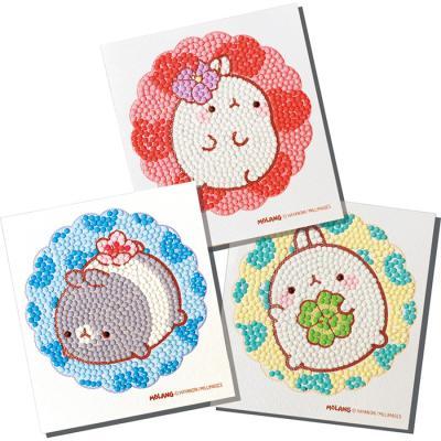 몰랑이 시리즈 (3종) 스티커 보석십자수 10x11