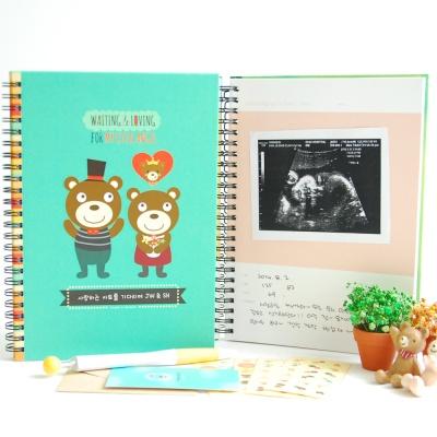 아빠곰엄마곰아기곰 초음파앨범(임신다이어리)