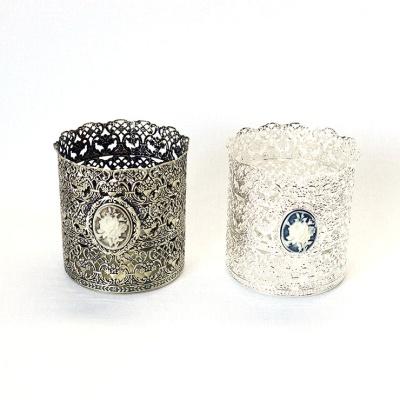 큐티메탈 엠블럼 원형 메이커업 홀더 라지-2색상