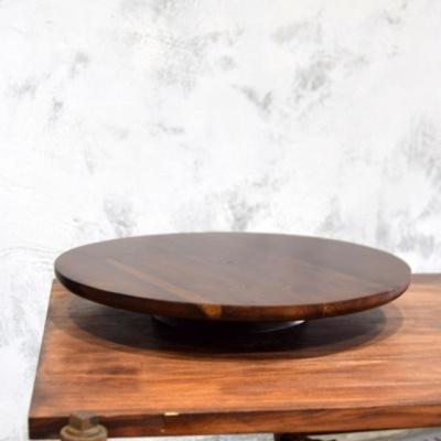 원목 회전 화분받침대 꽃꽂이 돌림판 33cm