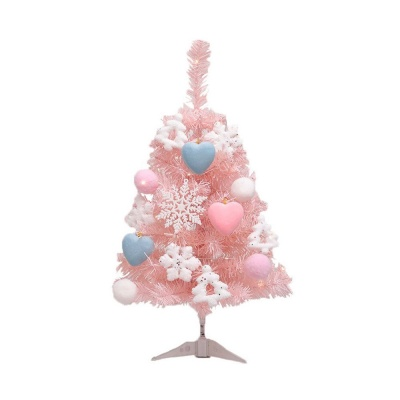 크리스마스 트리 세트 핑크 60cm