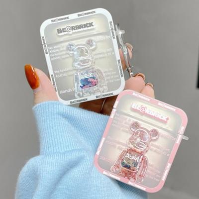 에어팟 1 2 프로 브릭베어 투명 곰돌이 실리콘 케이스
