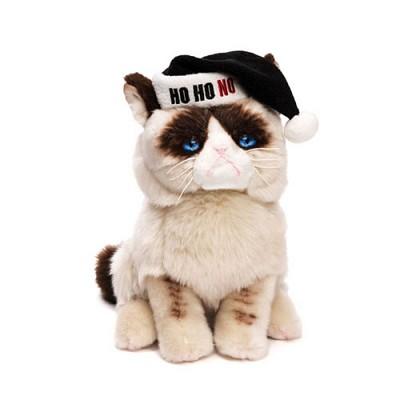 그럼피 고양이 산타모자 인형 - G4046085