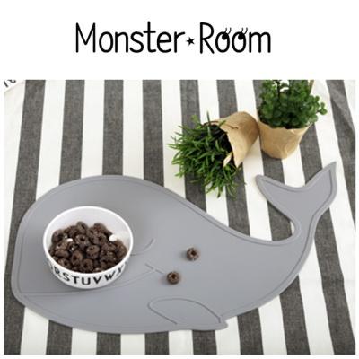 [무료배송] 몬스터룸 실리콘 테이블 식탁매트 고래