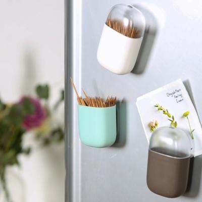 자석 이쑤시개 포켓 냉장고에 붙여놓는 메모홀더
