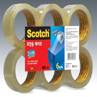 3M 스카치™ 포장용 테이프 3615-6 (48mmx50Mx6롤)