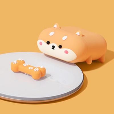 에어팟 1/2/프로 귀여운 강아지 캐릭터 실리콘 케이스