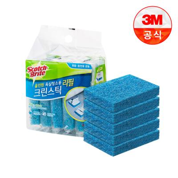 [3M]크린스틱 뉴올인원 욕실청소용 리필5입