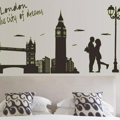 런던거리 벽지 스티커