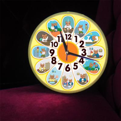 nf183-LED시계액자25R_해바라기시간표