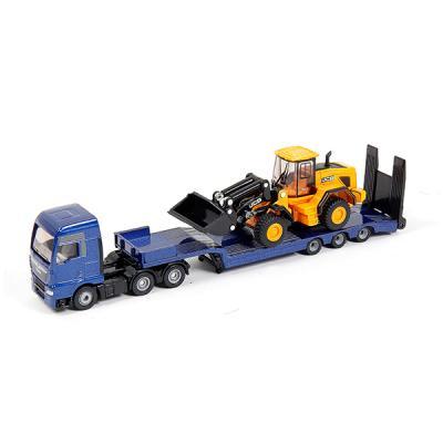 [시쿠]MAN TGX 로우로더 트럭과 JCB 휠 로더