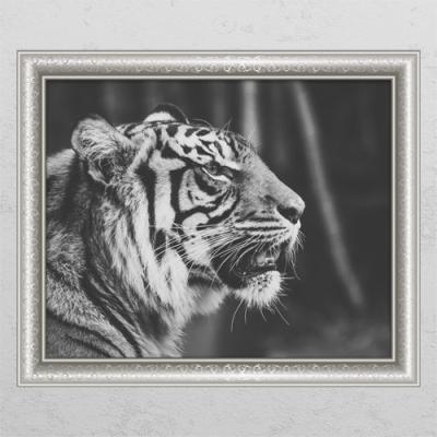 pc676-풍수흑백호랑이2_창문그림액자