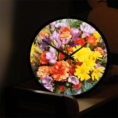nf496-LED시계액자35R_화사함가득한꽃