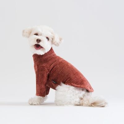 스니프 터틀넥 풀오버 스웨터 (브릭)