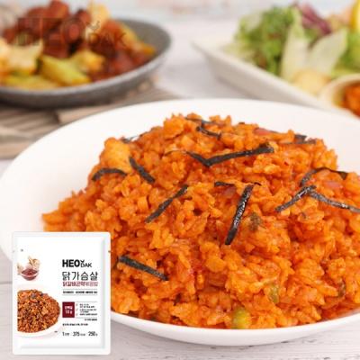 [허닭] 닭가슴살 닭갈비곤약볶음밥 250g
