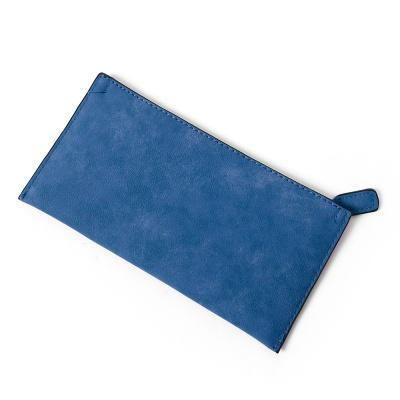 엘리야 가죽 장지갑(블루)