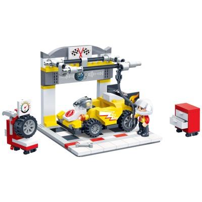 [3D퍼즐마을][반바오] BO8633 타이어 검사장-풀백 모터