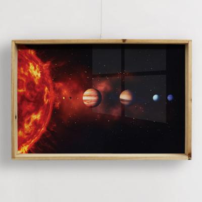 pf475-우드프레임액자_태양계행성과궤도