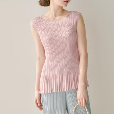 Pleats A Double Flare Blouse - 민소매