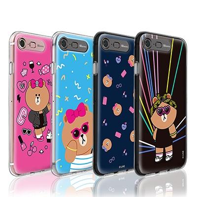 라인프렌즈 iPhone7 8/7 8Plus 초코 AS 라이팅케이스