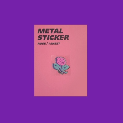 METAL STICKER_ROSE