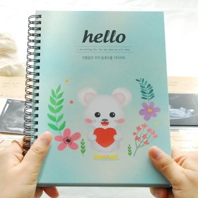 행복한 쥐 임신초음파앨범/태교앨범