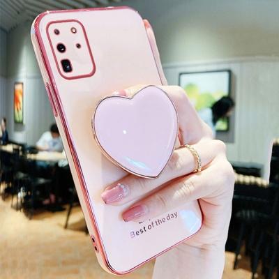 아이폰12 11 PRO MAX X SE2 8 핑크 하트 그립톡케이스