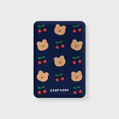 Dot cherry bear-navy(무선충전보조배터리)