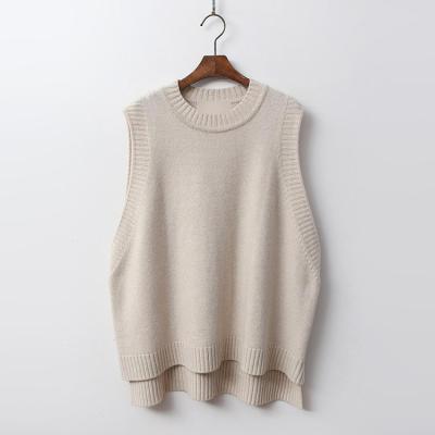 Cashmere N Wool Button Unbal Vest