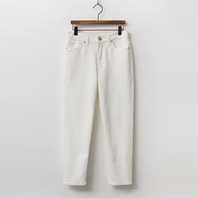 Latte Crop Straight Jeans