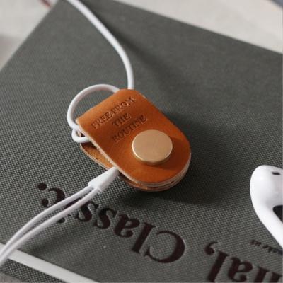 클래식 레더 이어폰 와인더