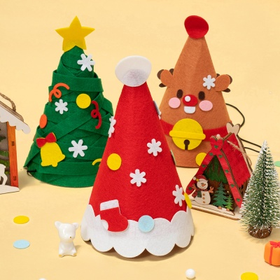 크리스마스 파티햇 꼬깔모자 만들기 루돌프 산타 모자