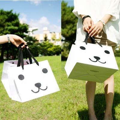 강아지 쇼핑백