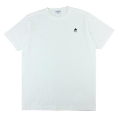 [알슨] #AR-SS004 캐릭터자수 반팔 티셔츠 (WHITE)