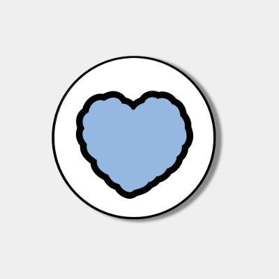 [스마트톡] skyblue heart fluffy