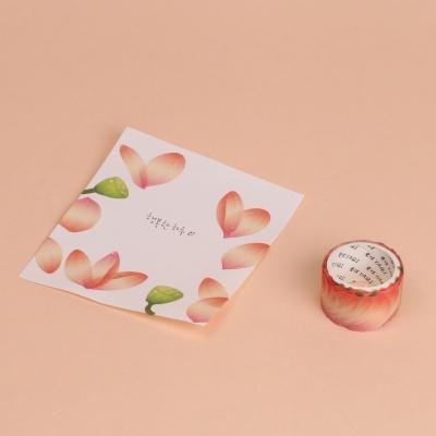 꽃잎 마스킹테이프 연꽃