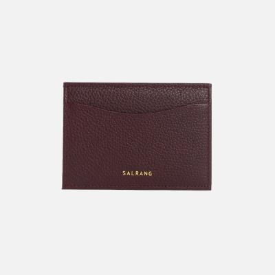 REIMS W018 루프 미니 카드 지갑 버건디