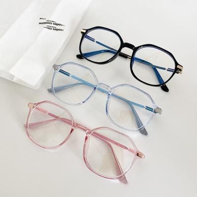 동글이 안경 투명 호피 검정 라운드 다각 뿔테 gl-2