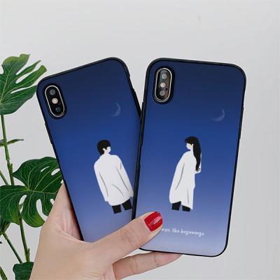 아이폰8플러스 골드리치 블루문 카드케이스