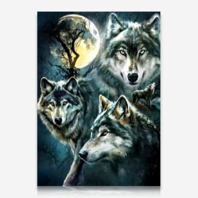 달빛의 늑대 DIY 보석십자수 십자수 비즈세트