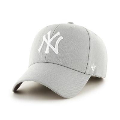 MLB모자 뉴욕 양키즈 그레이 화이트빅로고 스트럭처