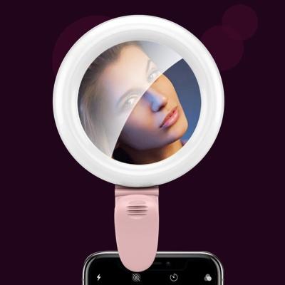 휴대용 LED 셀카 조명 링 라이트 렌즈 뷰티 아이템