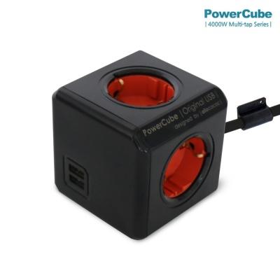 컬러파워큐브 멀티탭2.0 익스텐디드1.5M USB 4구