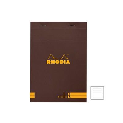 [로디아]칼라 R메모패드 no.16 초콜릿/줄지