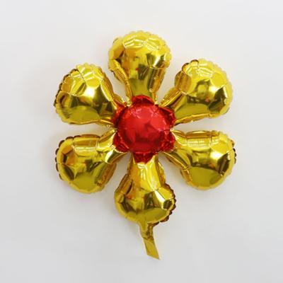 은박 꽃풍선 50cm (골드)